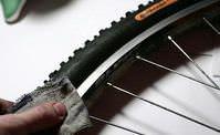 чистка обода велосипеда