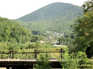 село Красное и река Туапсе