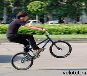 парень на BMX
