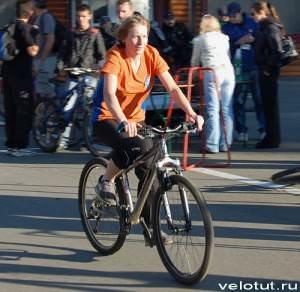 Победительница велосоревнования