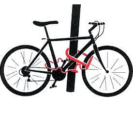 велосипед на замке