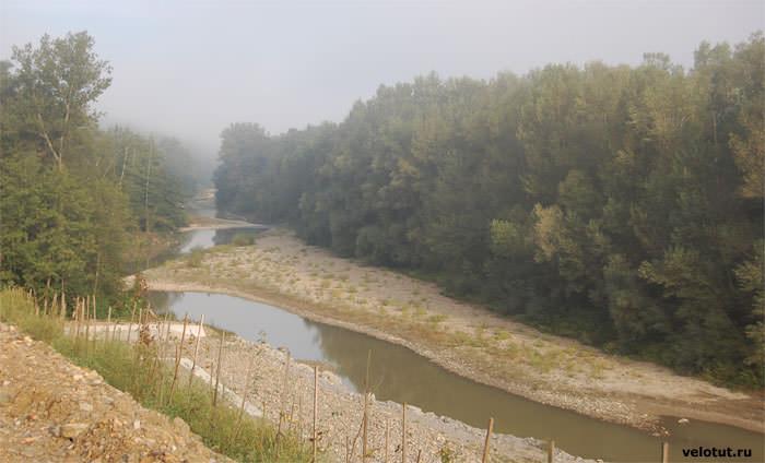 утро на реке Псекупс