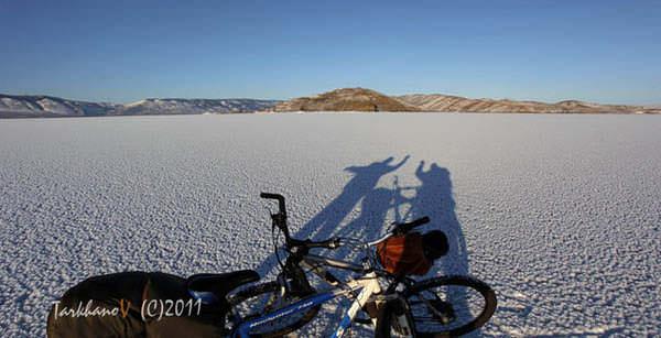 велопоездка по льду