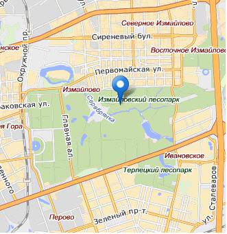 Измайловский парк карта