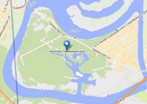 парк Серебряный бор карта