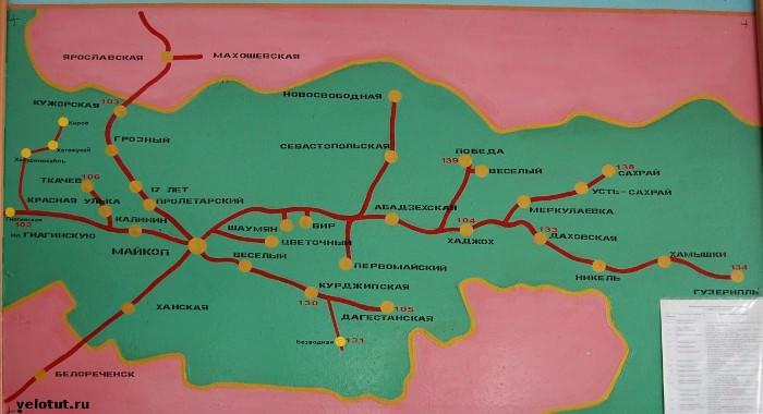 карта Майкоп-Гузерипль