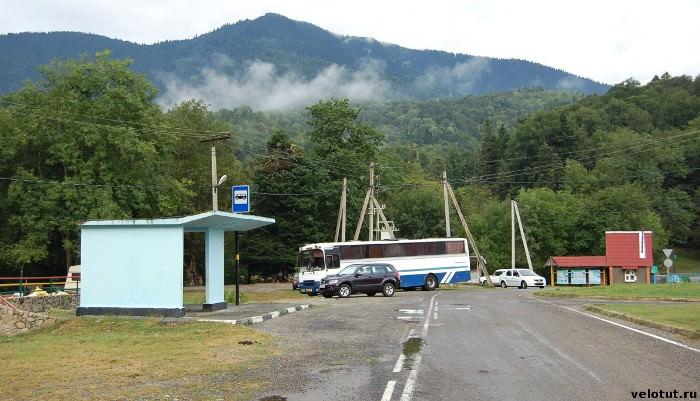 автобусная остановка Гузерипль