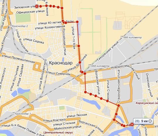 карта зиповская-ставропольская