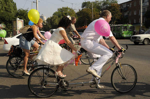 свадьба на велосипедах краснодар