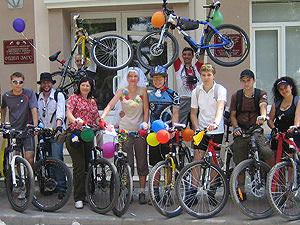 свадьба на велосипедах в Ростове
