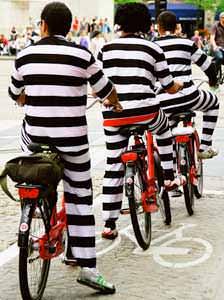 заключенные на велосипедах