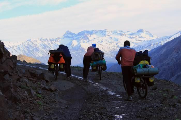 велосипедисты в кругосветном путешествии