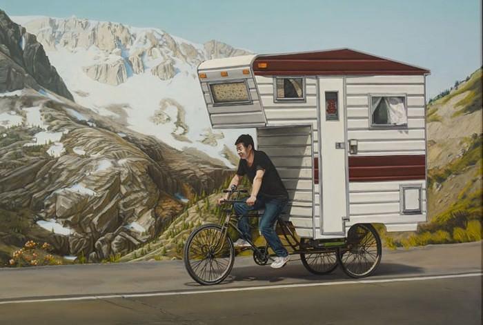 дом на велосипеде