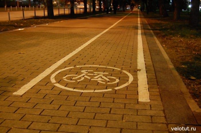велодорожка на улице Постовой Краснодар