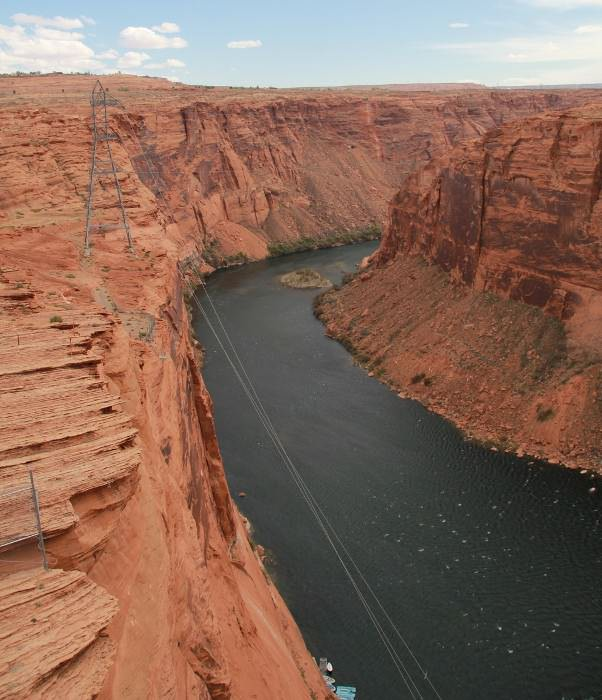 река Колорадо в Гранд-каньоне, США