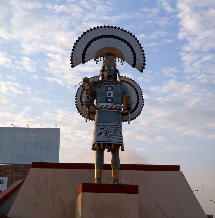 памятник древнему вождю племени инков, Эквадор