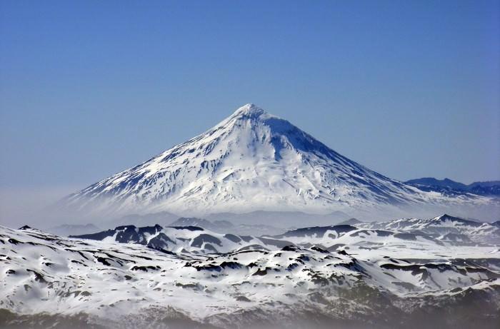 вид с вулкана Вильярика, Чили