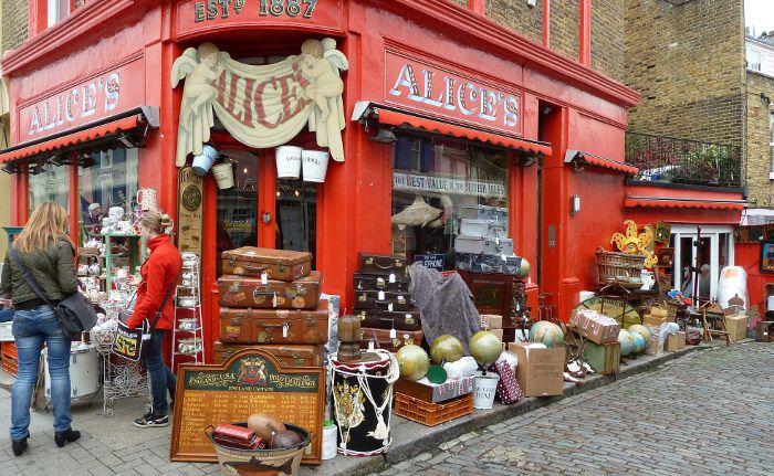 Portobello Road блошиный рынок в Лондоне