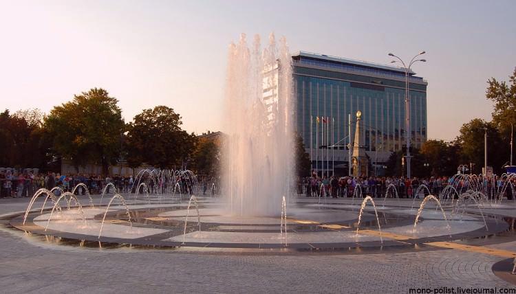 самый высокий фонтан в России находится в Краснодаре