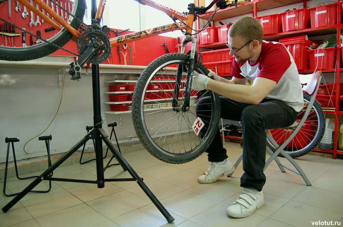 ремонт велосипеда в Велостудии