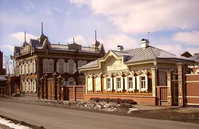 деревянные дома в Иркутске
