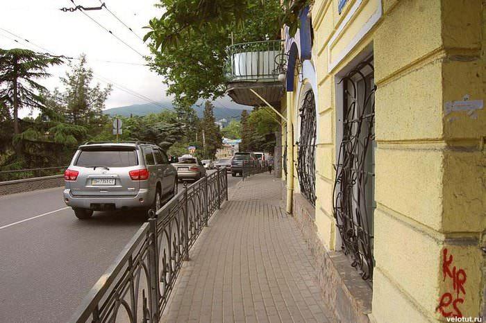 узкие улицы в ялте