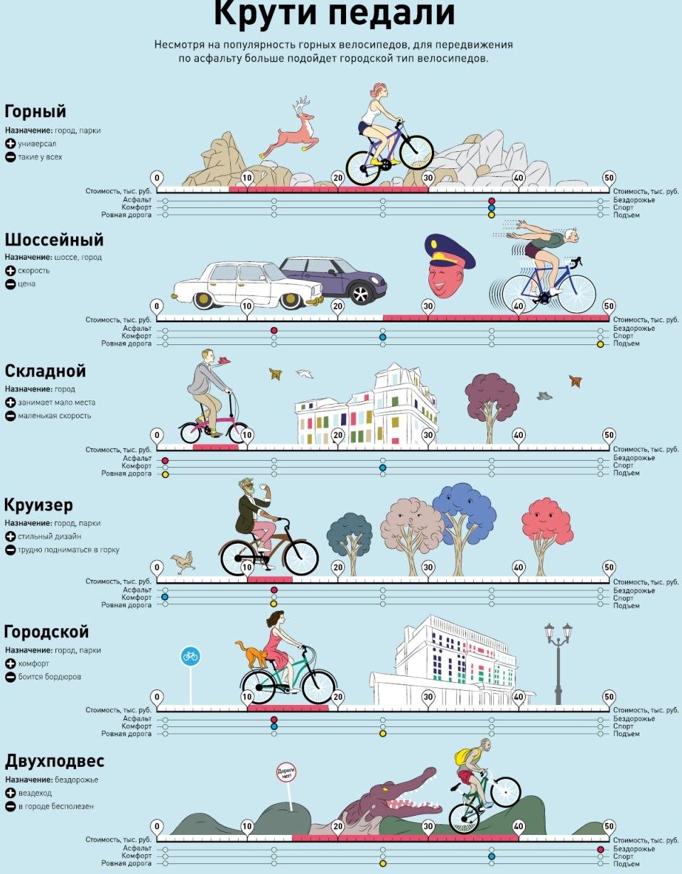 инфографика велосипед