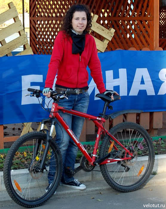 на велосоревновании в парке Солнечный остров, 2009 год