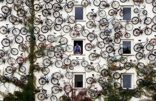 необычный велосипедный магазин в германии