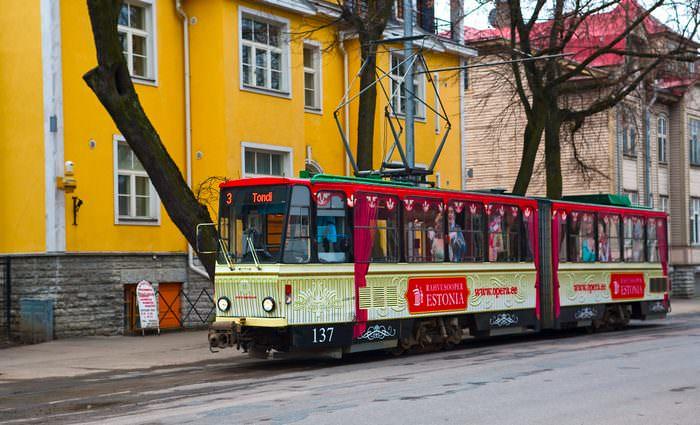 общественный транспорт, таллин