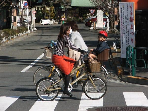 велосипедист, Токио
