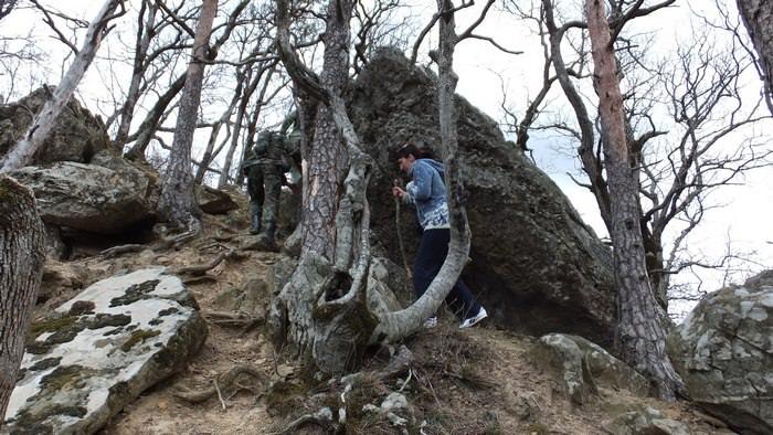 тропа на планческие скалы