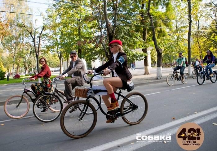 велопробег в стиле ретро