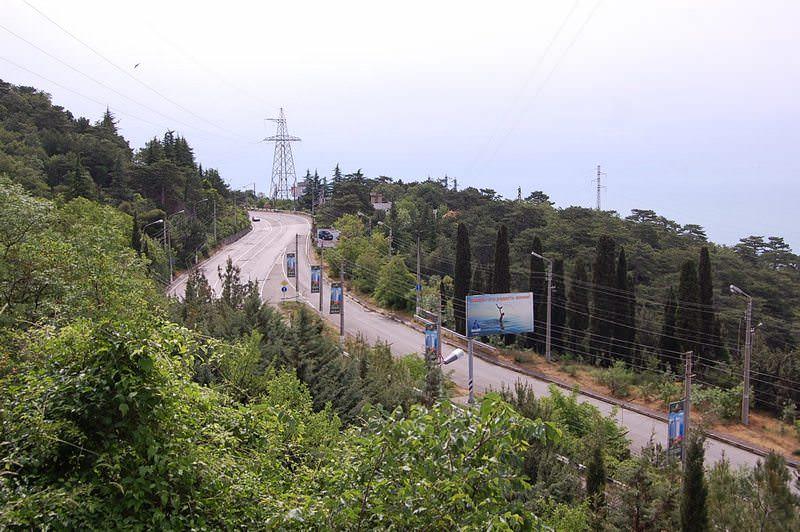 вид на шоссе