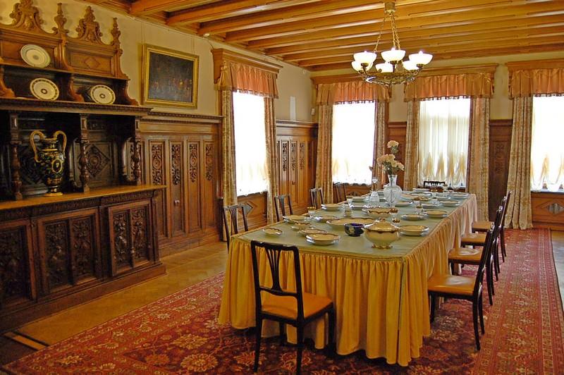 столовая в массандровском дворце