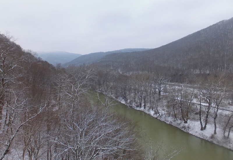 река псекупс зимой