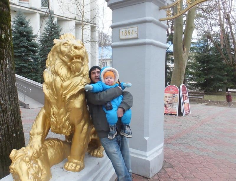 арка со львами горячий ключ