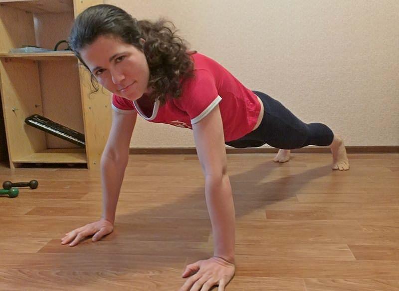 девушка фитнес