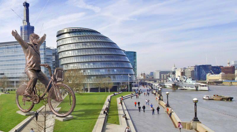 памятник велосипеду в лондоне
