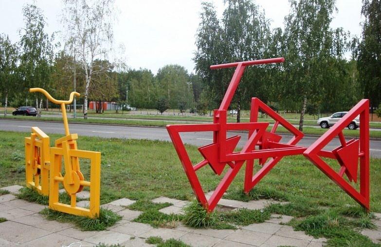 памятник велосипеду в набережных челнах