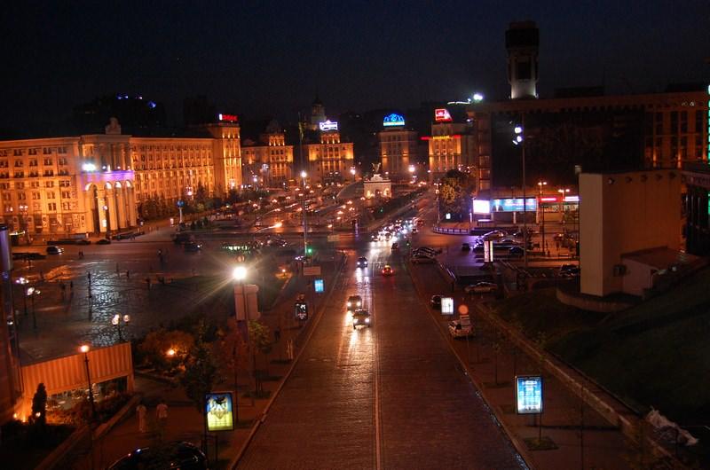 площадь киев ночь