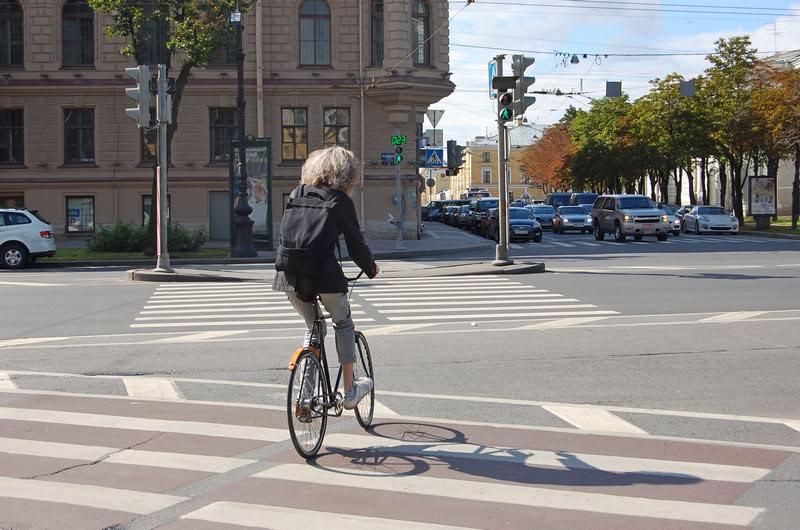 велосипедист питер