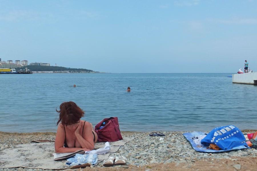 пляж геленджик